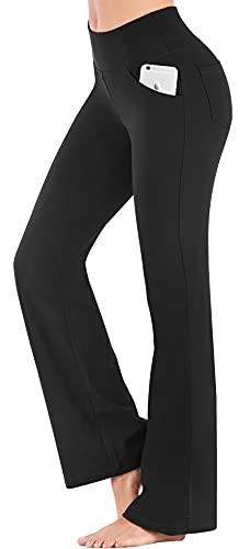 IUGA Bootcut Yoga Pants with Pockets for Women High Waist Workout Bootleg Pants Tummy Control, 4...