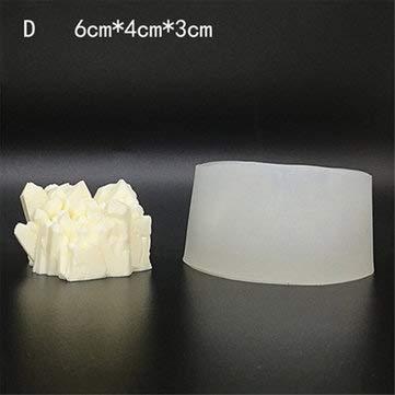 TuToy 3D Eisberg Aroma Steinform Crystal Column Silikonform Nützliche Home Supplies - D