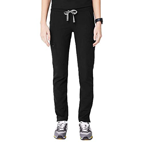 FIGS YOLA Skinny Scrub Pants for Women – Black, M