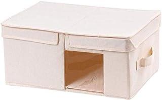 MU Grandes boîtes de rangement avec couvercles, boîte de rangement pliable, bacs de rangement Paniers pour vêtements Jouet...