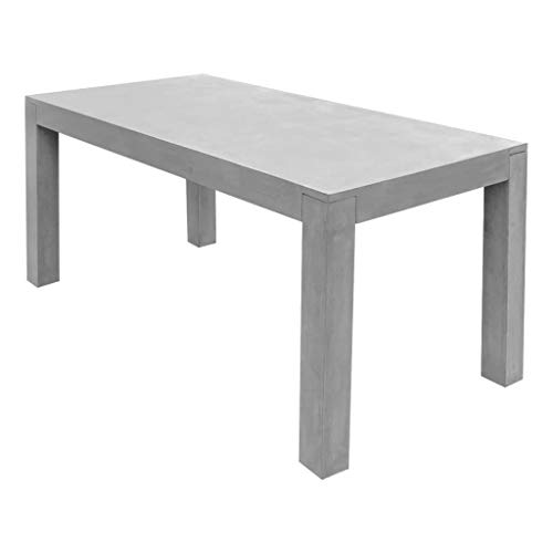 Tuintafel 180x90x75 cm beton grijs