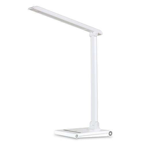 Dimmable LED Desk Lamp - Office Work Light with 3 Lighting Modes / Adjustable Brightness / Touch Control (LEC315 - White)
