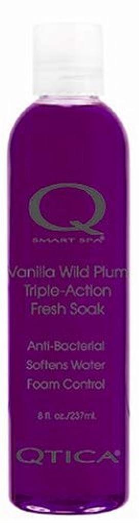 紫の大苦しめるQTICA スマートスパ トリプルアクションフレッシュソーク バニラ&ワイルドプラム 237ml