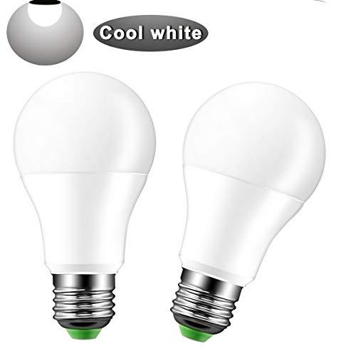 Bombilla Sensor Crepuscular LED 2 Pack, Konesky 8W Bombilla Led Blanco Frio 5700K, Dusk to Dawn Light Bulb/Apagado Automático,1000lm,e27,led Bombillas Exterior/Interior Para Camino,Jardín, Patio