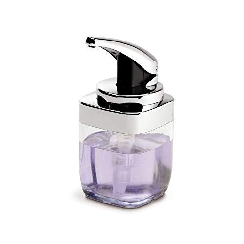 simplehuman, 443 ml, quadratischer Pumpspender, Chrom, 5 Jahre Garantie
