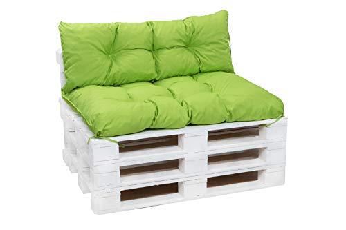 Cuscini per pallet, cuscini per divani in pallet, cuscini per sedie,cuscini per pallet economici, cuscini da giardino, cuscini impermeabili (lime, Cuscini set:120x80+120x40cm)