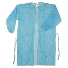 Nobles Healthcare Disposable Blue Isolation Gown Size: Universal Qty: 50 per Case