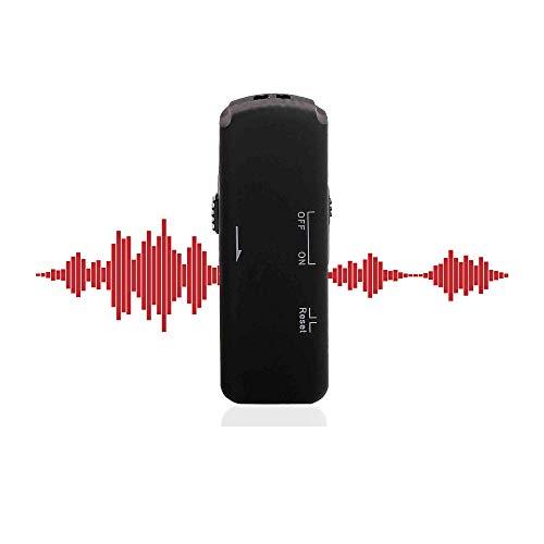 Grabadora de voz profesional USB Stick con sonido cristalino, grabación remota grabadora de voz digital, activación de voz grabadora de voz, grabadora digital con voz amplificada, 8 GB y 140 h