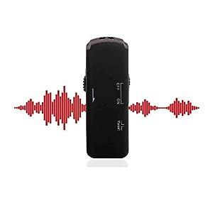 Grabadora de voz profesional USB Stick con sonido cristalino, grabación remota grabadora de voz digital, activación de voz grabadora espía, grabadora digital con voz amplificada, 8 GB y 140 h