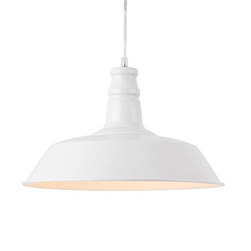 [lux.pro] Lámpara Colgante de diseño Moderna Blanca - de Metal - Pantalla Ø: 36 cm