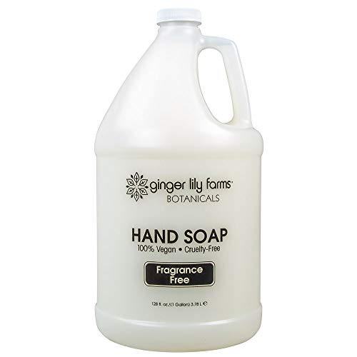 Ginger Lily Farms Botanicals All-Purpose Liquid Hand Soap Refill, Fragrance Free, 100% Vegan & Cruelty-Free, 1 Gallon