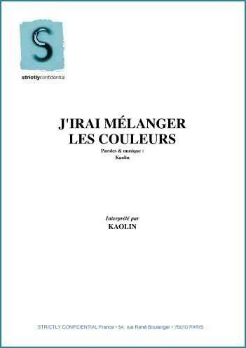 J\'IRAI MELANGER LES COULEURS