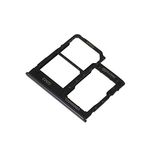 jbTec SD-Card/Dual SIM-Tray/Halter passend für Samsung Galaxy A40 - Slot Karte Schlitten Rahmen Holder Handy Card Ersatz, Farbe:Schwarz