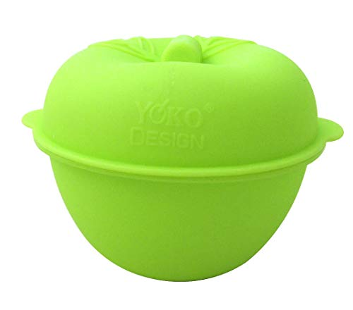 YOKO DESIGN 1014 Moule pour Cuire Pomme Silicone/Platine Vert 9,8 x 11,8 cm