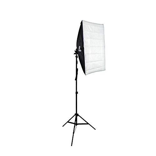 Kit de Iluminação Softbox 50x70cm com Soquete E-27 Embutido e Tripé de 2 metros