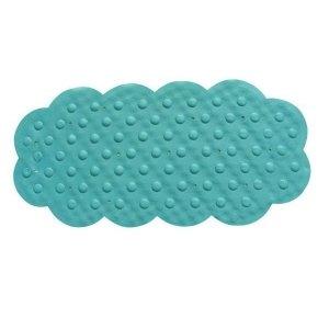 MSV Tapis Caoutchouc Fond de Bain Bleu 44x92, Carbonate de Calcium, 80 x 150 cm