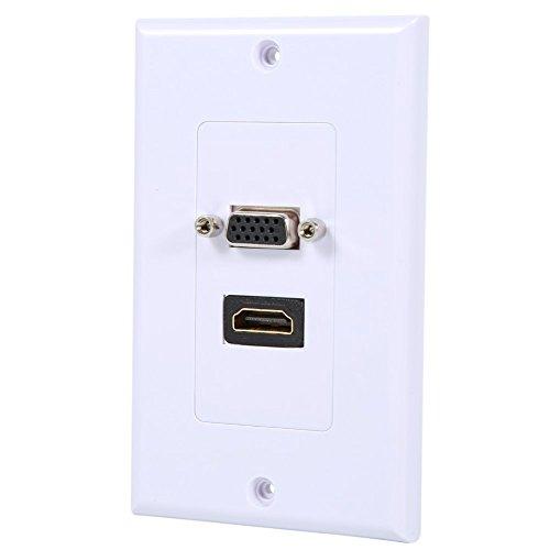 Zerone High Speed HDMI VGA-wandplaat, HDMI VGA stopcontact wandplaat paneel
