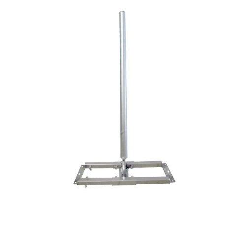 SkyRevolt Aufsparrenhalter 1meter Mast Ø 48mm Stahl feuerverzinkt ausziehbar 52-90cm Dach-Sparren-Halterung für Satellitenschüssel