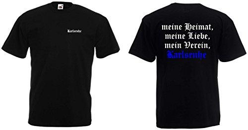 world-of-shirt Herren T-Shirt Karlsruhe Ultras Meine Heimat