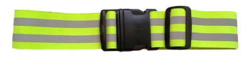 LW hoch Sichtbarkeit reflektierende elastischer Gürtel Sicherheits Laufen Jogging Wandern Radfahren Radfahren (Gelb)