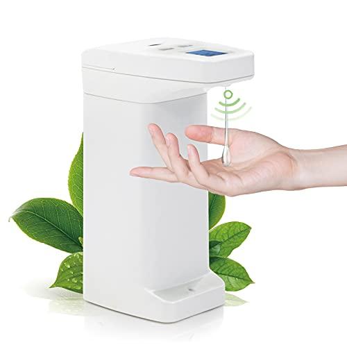 Desinfektionsspender Automatisch mit Sensor, Seifenspender Desinfektionsspender mit 4 Einstellbares Seifenvolumen, Gelten Badezimmer Küche Hotel Büro, 350ml 12 oz, Weiß