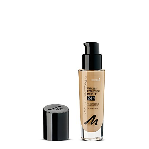 Manhattan Endless Perfection Make-up, Langanhaltende flüssig Foundation mit hoher Deckkraft, Farbe Natural Bronze 68, 1 x 30ml