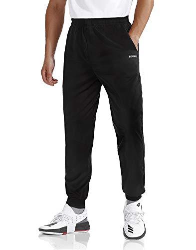 BENNIES Jogginghose Herren Trainingshose Sporthose Herren Lang Schwarze Hose Männer Sweatpants Slim Freizeithose mit Taschen für Freizeit Fitness Sport Laufen M