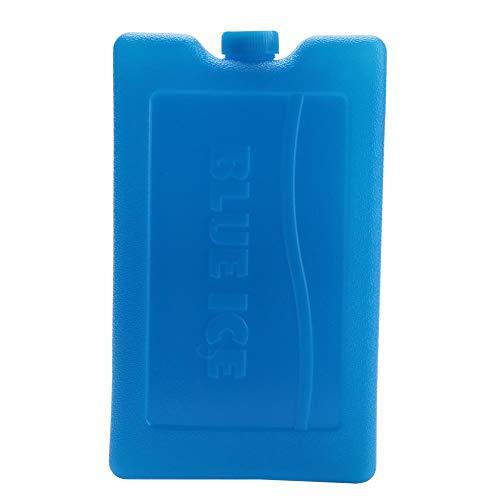 Duurzame ijsverpakkingen, herbruikbaar freezer packs, dubbelzijdig contourgevormde vormen voor moedermelk flessen voor het bewaren van moedermelk, blikjes, koelboxen 600 ml Blue One Sided Contoured Shape.