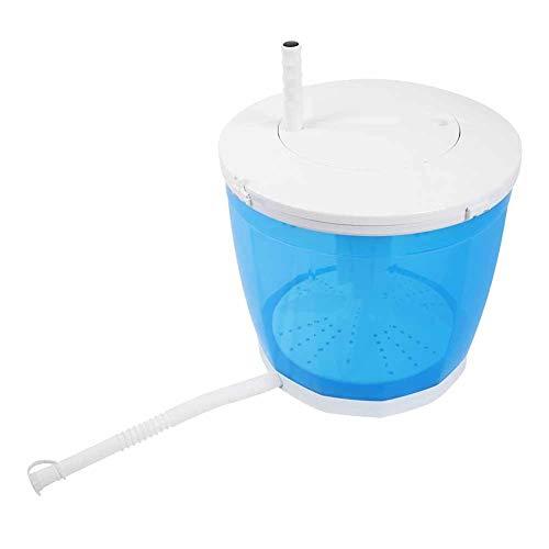 DAUERHAFT Lavadora portátil 2 en 1, Mini Lavadora Manual, con Tubo deshidratante, para Acampar, Viajar al Aire Libre
