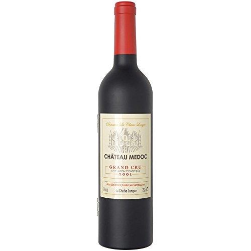 La Chaise Longue 33-2K-001G Coffret sommelier Bouteille de vin GM 5 accessoires à vin 1 limonadier 1 bouchon universel 1 bouchon verseur 1 collier anti-goutte et 1 coupe-capsule D7 x H32,5 cm
