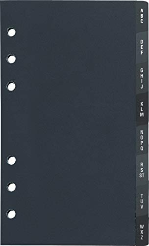 rido/idé 7066812 A-Z-Register (aus Hartfolie, für Timer Filius/Timing 2, 8-teilig) schwarz