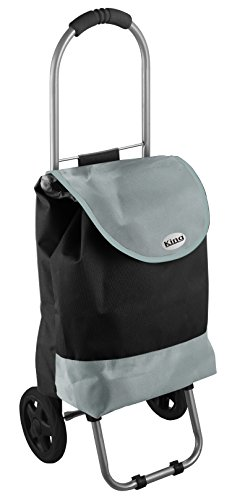 King Home T1407002 Trolley Spesa, Nero Bicolor, 32X25X88H