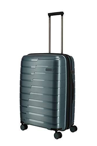 travelite 4-Rad Koffer M mit Dehnfalte + TSA Schloss, Gepäck Serie AIR BASE: Funktionaler Hartschalen Trolley im coolen Look, 075348-25, 67 cm, 71 Liter (erweiterbar auf 82 Liter), eisblau