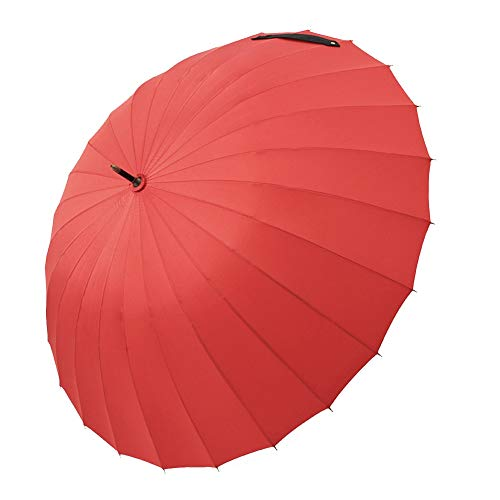 Großer doppelter Langer Regenschirm Winddichter Sturm ZHANGAIZHEN (Farbe : Red Suzuki)