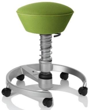 Aeris Swopper AIR mit atmungsaktiven AIR-Bezug Lime-Grün, Fußring und Feder in Titan-Optik, Fußring mit Universal-Rollen