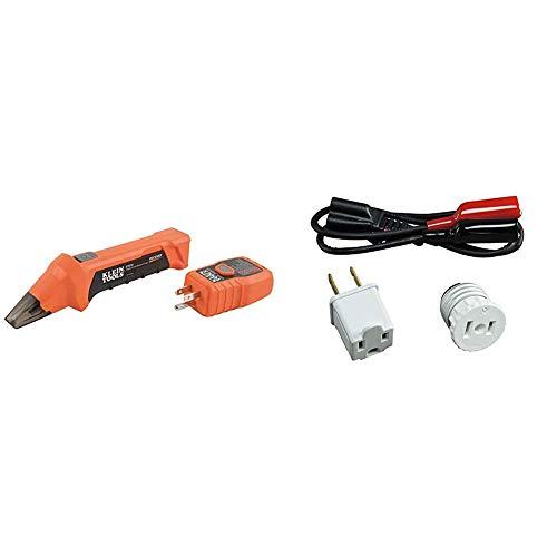 Klein Tools Digital Circuit Breaker Finder with GFCI Outlet Tester ET310 & Circuit Breaker Finder Accessory Kit, Circuit Breaker Leads, Circuit Breaker Adapters Klein Tools 69411