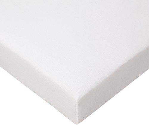 FabiMax Jersey Spannbettlaken für Laufgitter 100x100 cm, weiß