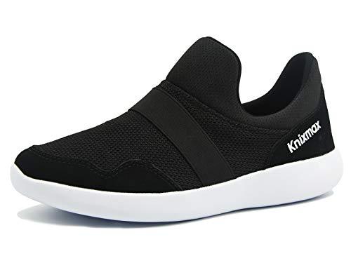 Knixmax-Zapatillas sin Cordones para Mujer, Zapatillas de Deportivo Sneakers Running Zapatillas de Malla Transpirable Zapatos para Correr Gimnasio Athletic, EU38 (UK5) Black