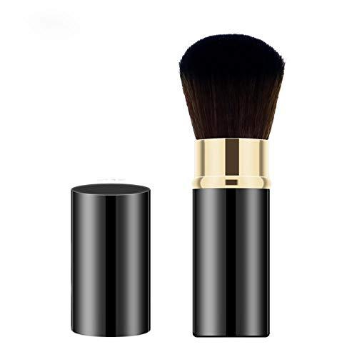 Pinceau À Poudre Libre Pinceau De Maquillage Portable Rétractable Set Maquillage Shadow Brush Highlight Blush Brush, 01 Classic Black