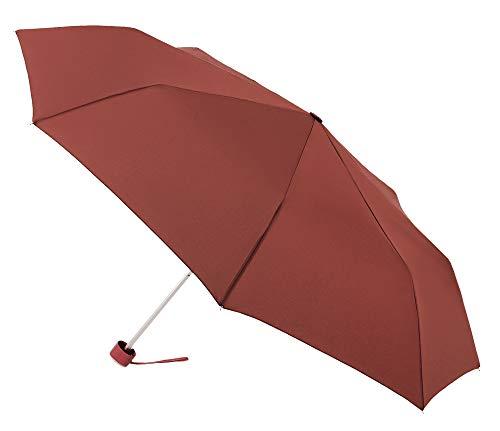 VOGUE Basic Regenschirm, Winddicht erhältlich. Wählen Sie den passenden Stil aus. Die Manschette hat einen originellen Chrom-Effekt. Rot Dunkelrot