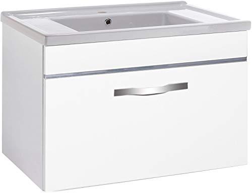 W.Schildmeyer Badmöbel Waschtisch Diana hochglanz Weiß -Made in Germany-