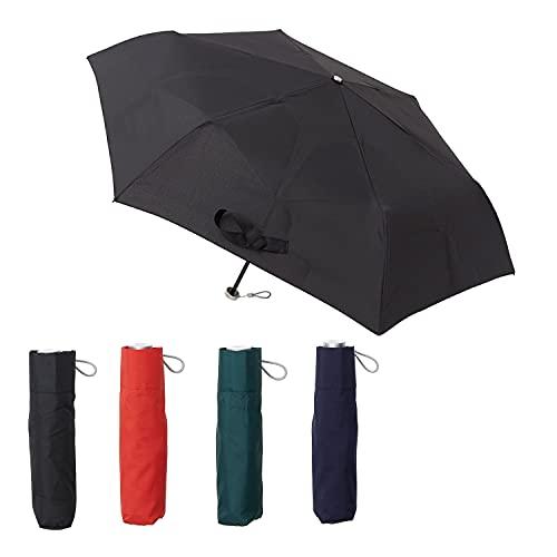 [ムーンバット] urawaza(ウラワザ) 折りたたみ傘 無地 ブラック 52㎝【3秒で折りたためる傘】