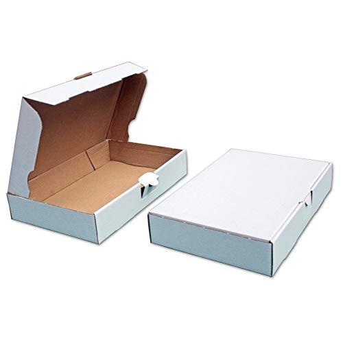 50x Warenpostkartons 350x250x30mm DIN A4 Weiss WP-1 Warenpost für Warensendung DHL DPD GLS H Päckchen, Versandkarton, Büchersendung