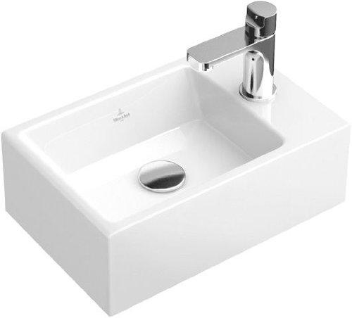 Villeroy & Boch Handwaschbecken Memento 53334G 400x260mm Hl. re durchgest ohne Überlauf weiß, 53334G01