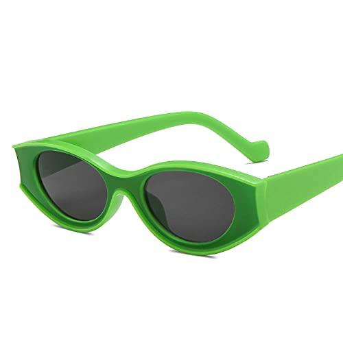 DLSM Gafas de Sol Gafas de Sol Gafas de Sol pequeñas Marco para Hombres Gafas de Sol Retro Gafas de Sol adecuadas para Gafas de Sol de Pesca de Golf-Gris Verdoso