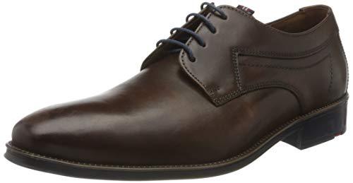 LLOYD Herren Businessschuh GASAL, Männer Schnürhalbschuhe, Business-Schuh anzugschuh Herren Maenner maennliche Men,Cioccolato/Ocean,10.5 UK / 45 EU