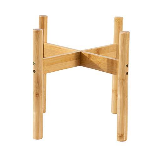 QUMENEY - Soporte moderno para plantas de interior de estilo de mediados de siglo, de madera, para hogar, oficina, jardín, patio, restaurante o cafetería