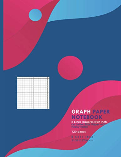 Graph Paper Notebook: Grid Composition Notebook for Math and Science Students Blank eight lines per