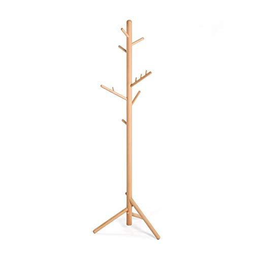 Jahrgang Mantel Rack Stand Wäscheständer, Holzbaum Moderne, stabile lasthaltige starke Single-Pole für Aufhänger Schlafzimmer Wohnzimmer Hall-Korridor, einfache Installation Hochleistungsgarderobe