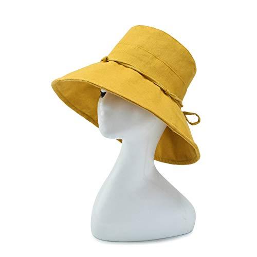 SLLY Frühling und Sommer Fischer Hut Sunhat Sonnenschutz Sonnenhut Outdoor Ladies Fishing Cap, Gelb